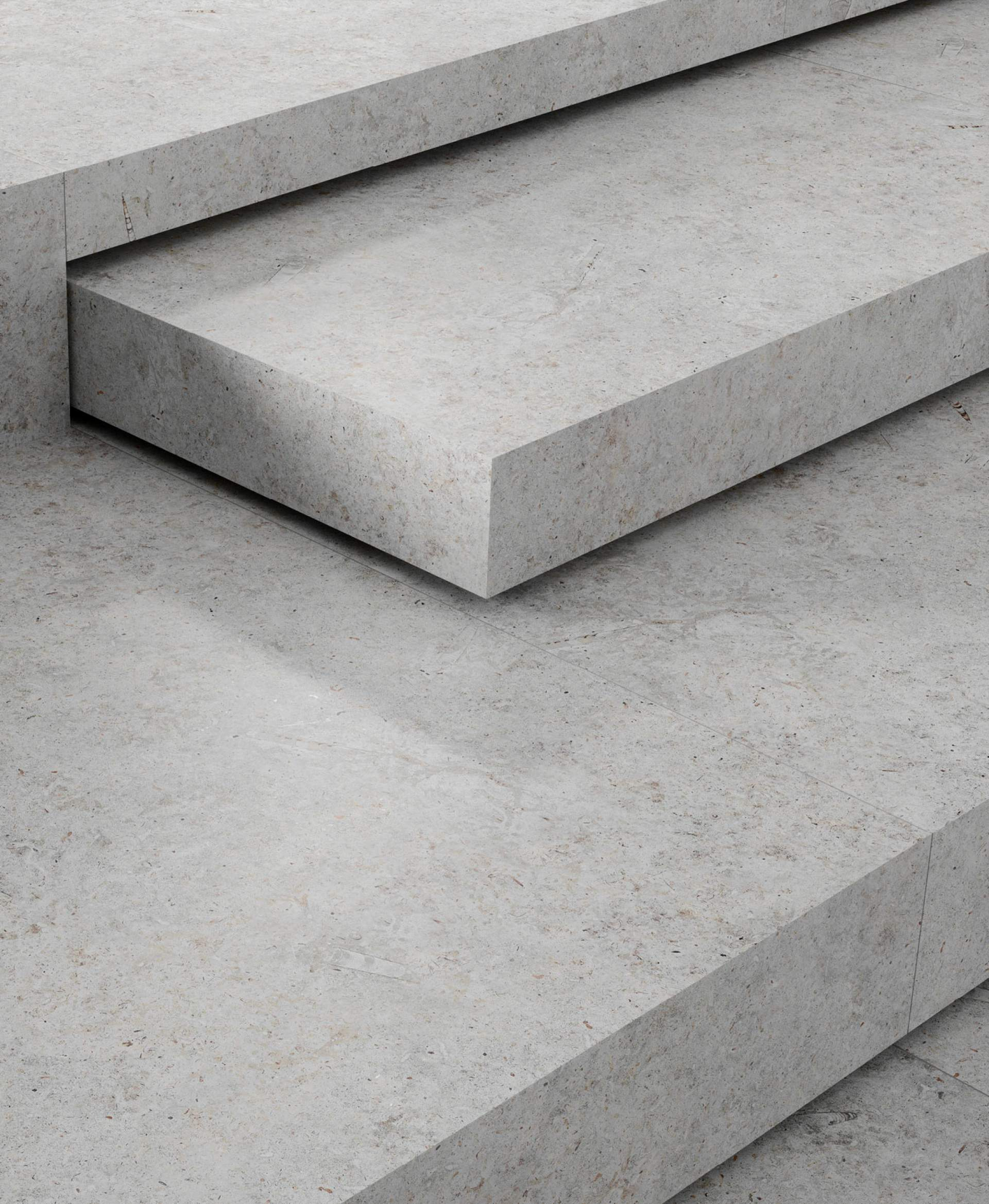 Arco steps setting using Grey Tile