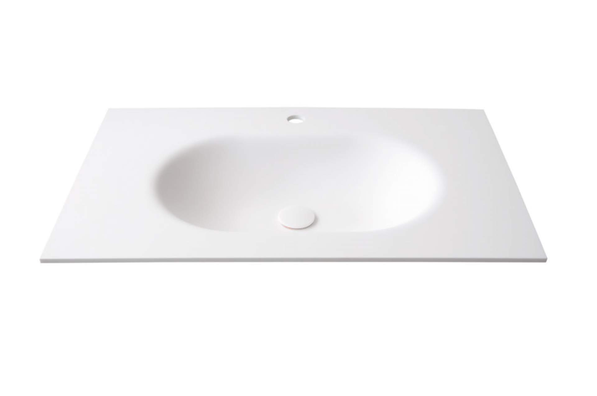 Bruselas built into countertop Glacier White