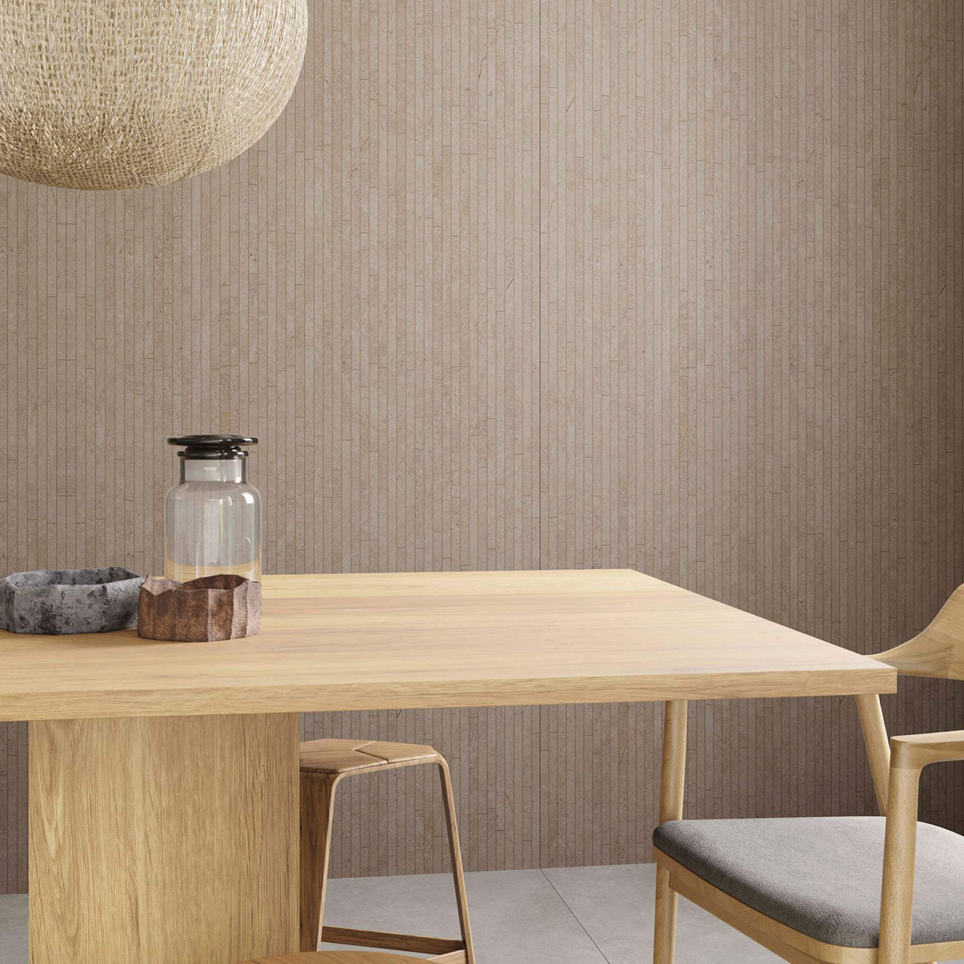Evoke Dining Room setting with Moka Tile