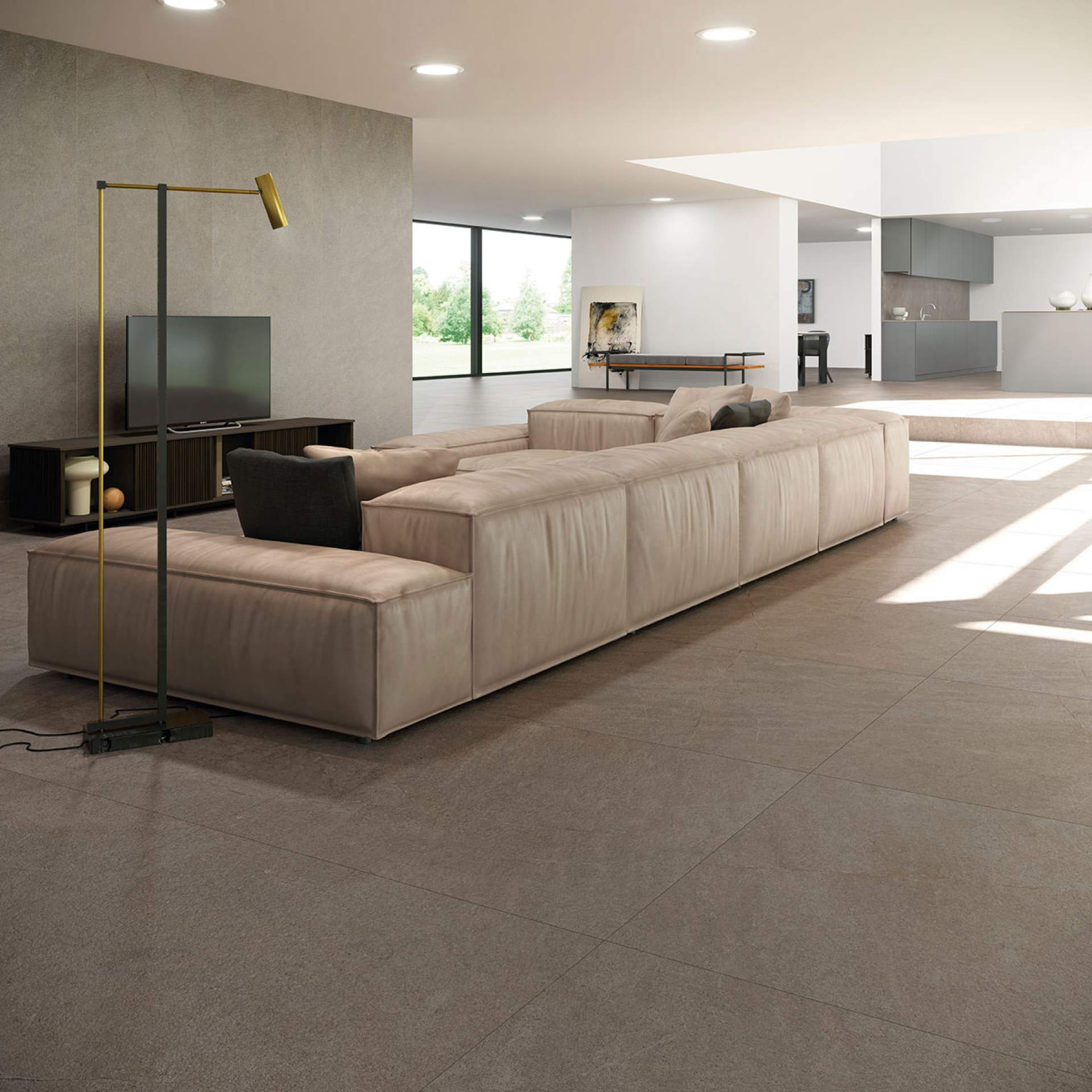 Evoke Lounge setting with Moka Tile