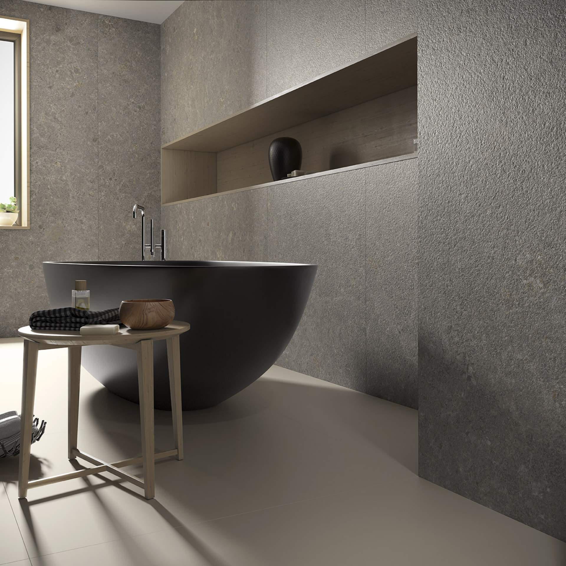 Impact Bathroom Wall setting with Grey Tile