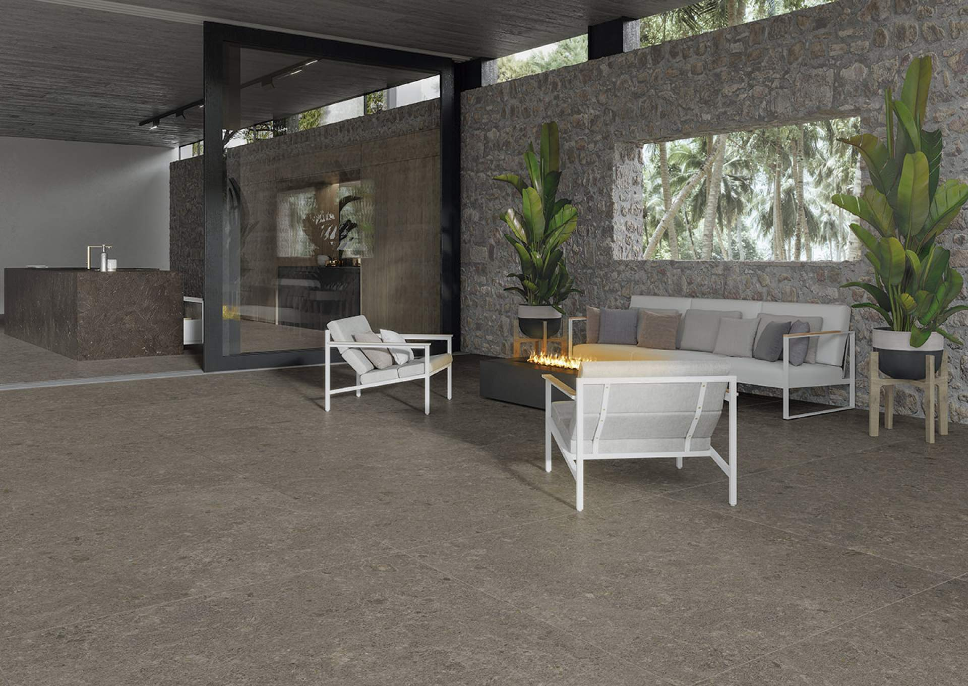 Impact Spa setting with Grey Tile