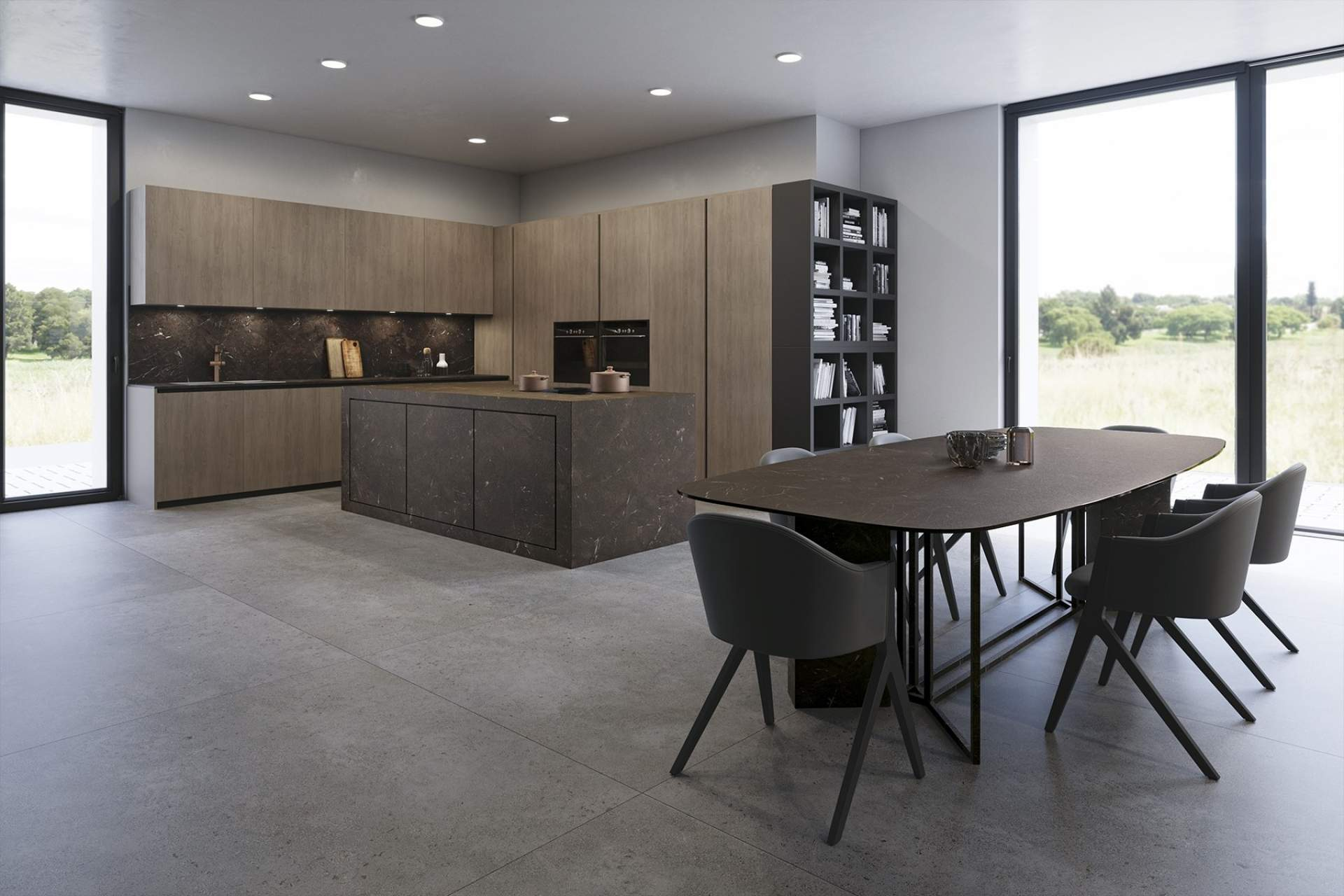 Industry kitchen setting using Grey Tile