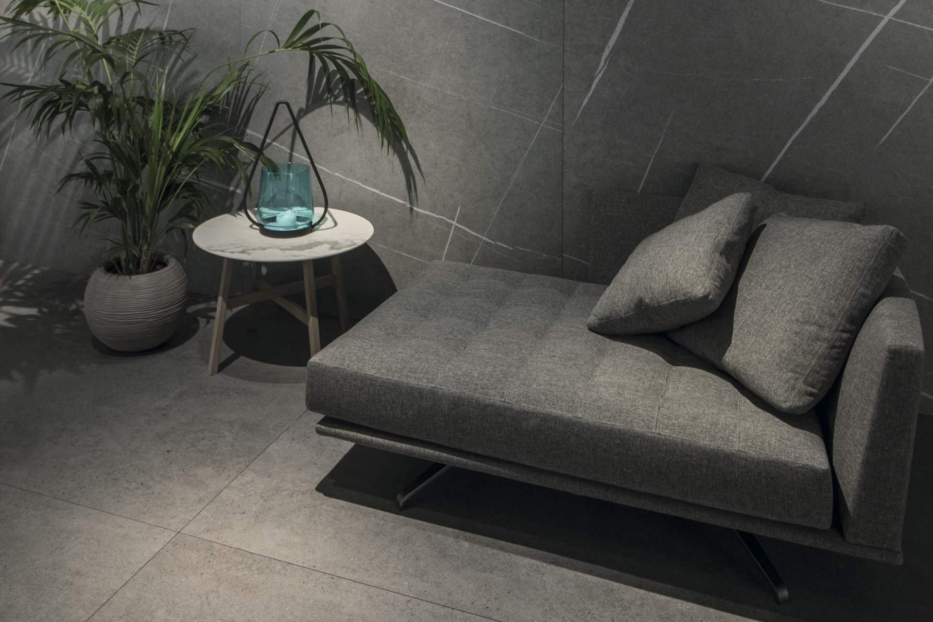 Industry lounge setting using Grey Tile